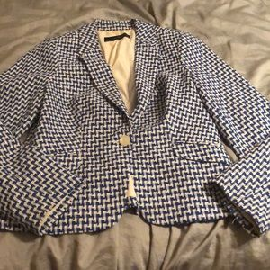 Limited blue and white blazer